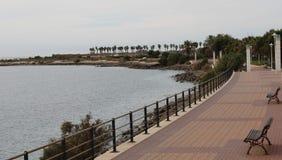 Promenade in AlmerÃa Spanien zu gehen lizenzfreies stockbild