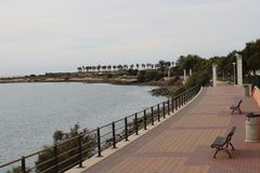 Promenade in Almería Spain to walk royalty free stock image