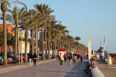 The promenade in Almeria, Spain Stock Images