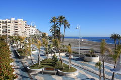 Promenade ( Almuñecar, Spain ) Royalty Free Stock Image