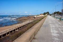 Promenade Along Atlantic Ocean in Porto Stock Image