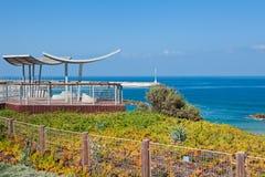 Promenade along Mediterranean sea. Stock Image