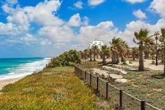 Promenade along Mediterranean sea. Royalty Free Stock Photography