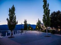 Promenade  along the Okanagan Lake waterfront in Kelowna, BC Royalty Free Stock Photo