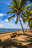 The promenade along Rizal Boulevard, City of Dumaguete, Philippines Royalty Free Stock Image