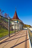 Promenade along the State residence of the Russian Federation. City of Pionersky, Russia Royalty Free Stock Photos
