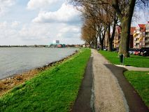 Promenade along the Westerdijk in Hoorn, Holland, the Netherlands Stock Photography