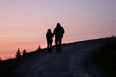 Promenade alpestre photographie stock libre de droits