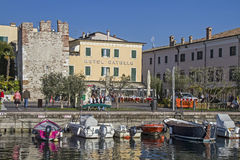 Promenade And Harbor In Bardolino Stock Images