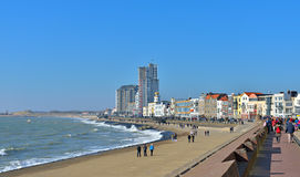 Promenade area in center of the city Vlissingen Stock Photo