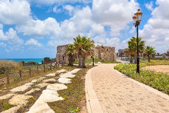 Promenade in Ashqelon, Israel. Royalty Free Stock Image