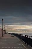 Promenade auf dem Fluss Mersey, Liverpool, Großbritannien. Lizenzfreie Stockfotos