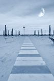 Promenade auf dem Sand Lizenzfreies Stockbild