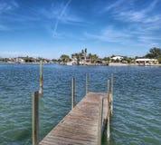 Promenade auf dem Wasser Stockfoto