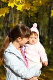 Promenade avec l'enfant Photographie stock