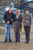 Promenade avec la grand-mère Photos libres de droits
