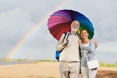 Promenade avec le parapluie Image libre de droits