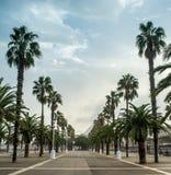 Promenade in Barcelona Stock Image