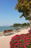 Promenade of bardolino, garda lake, italy Stock Photo