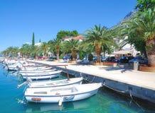 Promenade of Baska Voda,adriatic Sea,Croatia Stock Photography