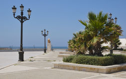 Promenade beach in Cadiz Royalty Free Stock Photo