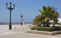 Promenade beach in Cadiz. Promenade of Cadiz, a city located in the south of Spain Royalty Free Stock Photo