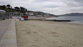 Promenade and beach Lyme Regis Dorset England UK stock footage