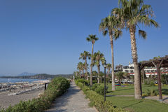 Promenade at the beach on the morning Stock Image