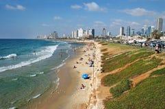 Promenade and beach between Tel Aviv and Jaffa Royalty Free Stock Image