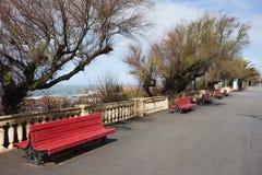 Promenade with Benches along Atlantic Ocean in Porto Royalty Free Stock Photos