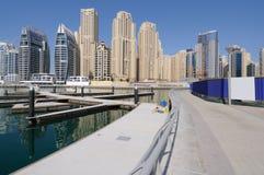 Promenade bij de Jachthaven van Doubai royalty-vrije stock afbeelding