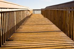 Promenade bij het Strand Stock Foto's