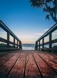 Promenade bij het strand stock fotografie