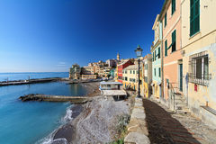 Promenade in Bogliasco Royalty Free Stock Photo