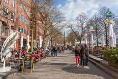 Promenade in Bremen, Duitsland Stock Afbeelding