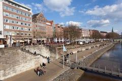 Promenade in Bremen, Duitsland Royalty-vrije Stock Foto