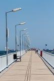 Promenade bridge Royalty Free Stock Photos