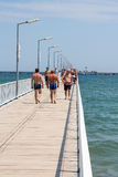 Promenade bridge Royalty Free Stock Image