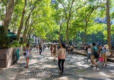 Promenade Bryant Park de ressort photo libre de droits