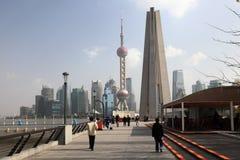Promenade Bund à Changhaï, Chine Photographie stock