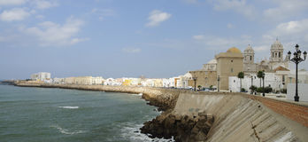 Promenade in Cadiz Stock Photography