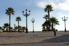 Promenade in Cadiz Royalty Free Stock Photography