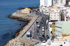 Promenade in Cadiz, Spain Stock Images