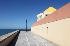 Promenade in Cadiz, Spain Stock Photography