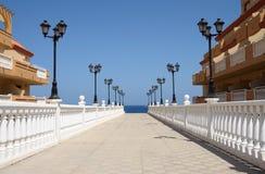 Promenade in Caleta de Fuste, Fuerteventura Royalty Free Stock Image