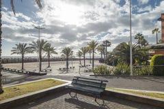 Promenade in Calheta Stock Photo