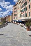 Promenade, camogli, Italie Photo stock