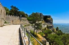 Promenade and castle of Venus at Erice, Sicily Stock Image