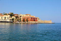 Promenade in Chania,Crete,Greece Royalty Free Stock Photo