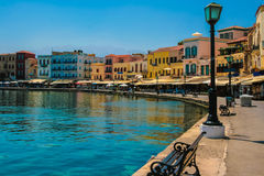 Promenade in Chania, Kreta, Griekenland Royalty-vrije Stock Afbeelding